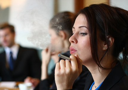 vaping in office