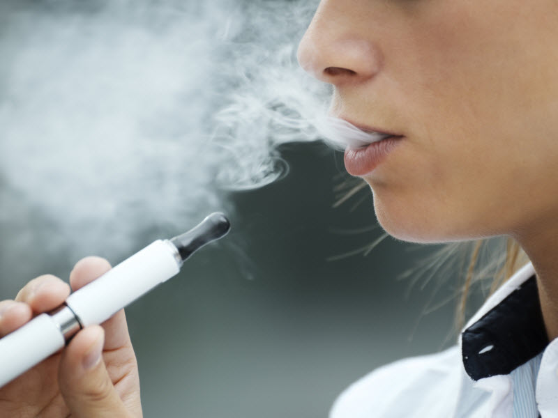 Side effects associated with e-cigarettes in former smokers